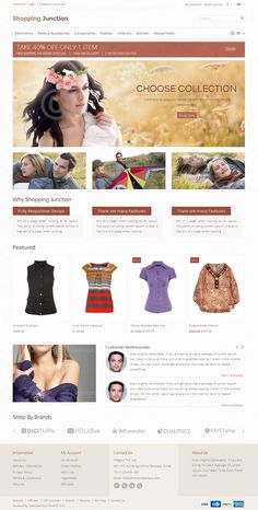Shopping Junction OpenCart Theme is specially design for fashion, women and apparel stores. Great colors combination. All sub pages are customized. It is very nice with its clean and professional look.