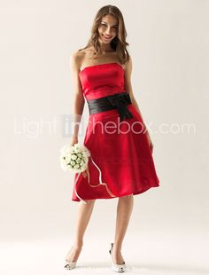 Red And Black Bridesmaid Dresses | ... 12 Prettiest Black and Red Bridesmaids Dresses | Indie Wedding Guide