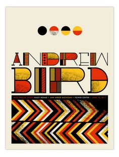 Andrew Bird Ann Arbor concert poster by Nerl Says Design - Nerl Says - Gallery