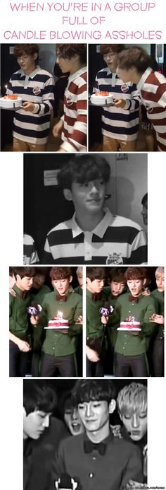 EXO | Usually I get irritated with people blowing others birthday candles for them. VBut since it's EXO, well... That's an exception