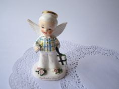 Vintage Napco 50's September Boy Angel Figurine by jenscloset, $28.50