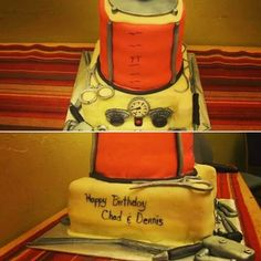 """""""Chad and Dennis get the bestest birthday cake ever: An embalming machine equip with instruments. Crazy Cakes, Casket, Funeral, Lunch Box, Happy Birthday, Graduation, Baking, Projects, Happy Brithday"""