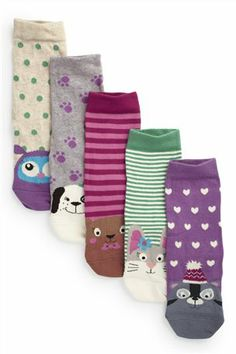 Buy Multi Character Socks Five Pack (Older Girls) from the Next UK online shop