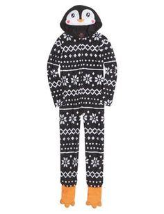 e12c66679c3 Bennie boo · Hooded Penguin Onesie Cute Pjs