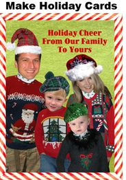 Make #holiday #cards with the Sweater-izer