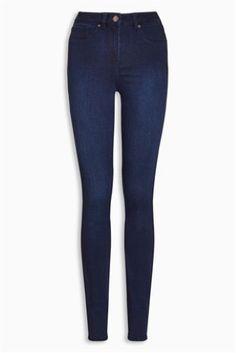 Buy Denim Leggings online today at Next: Israel Latest Fashion For Women, Mens Fashion, Denim Leggings, Next Uk, Dark Denim, Uk Online, Skinny Jeans, Pants, Stuff To Buy
