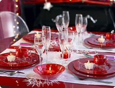 white christmas foods | Luminarc - Decoration tips: Red and white christmas