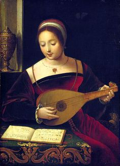 """""""The Lute-Player (La Luthiste)"""", 1530-40, by the Master of the Female Half-Lengths (also known as the Master of the Vienna Concert; Southern Netherlandish, flourished c. 1500-1530)."""