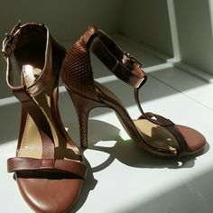 GIANNI BINI HEELS Copper Color Great condition. Worn twice Gianni Bini Shoes