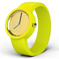 O clock watch - White face with Yellow strap