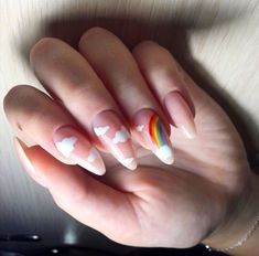 133 trendy short nail art designs for 2020 spring 77 Cute Acrylic Nail Designs, Best Acrylic Nails, Nail Art Designs, Aycrlic Nails, Nail Manicure, Swag Nails, Funky Nails, Fire Nails, Dream Nails