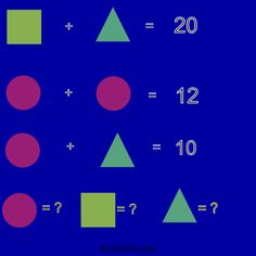 Brain teaser - Kids Riddles Logic Puzzle - shapes - it easy too !