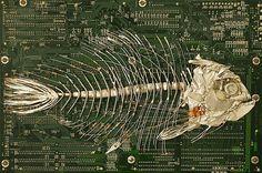 circuit board sculptures (3)