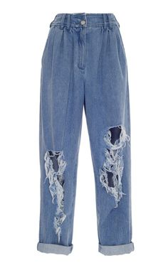 Balmain takes distressed denim to the next level with these high-rise jeans. Swaggy Outfits, Edgy Outfits, Mode Outfits, Retro Outfits, Grunge Outfits, Cute Casual Outfits, Fashion Outfits, Mode Grunge, Mode Kpop