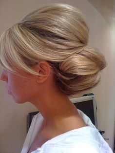 Wedding hair low chignon classic beautiful simple