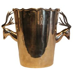 1stdibs - Rosenthal Netter Brass Champagne / Ice Bucket with Deer Handles explore items from 1,700  global dealers at 1stdibs.com