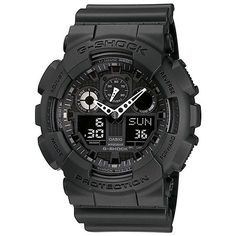 G-SHOCK GA100-1A1, Living up to G-Shock's reputation for big case designs, comes a revolution in case size with the introduction of the X-Large G.