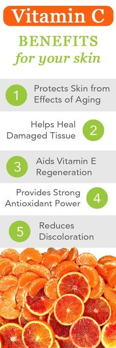 Vitamin C Benefits For Your Skin. Learn why Vitamin C is exactly what your skin needs to stay healthy. #health #natural #skincare