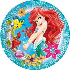 Ensure their party is a true under-the-sea adventure with these fun The Little Mermaid party plates! Made from laminated paper, they feature colourful artwork of Ariel, Flounder and Sebastian. Little Mermaid Party Supplies, Little Mermaid Birthday, Little Mermaid Parties, Disney Little Mermaids, Ariel The Little Mermaid, Ariel Disney, Disney Birthday, Clipart Baby, Mermaid Kids
