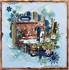 Fabulous layout with theWinter Delight Stickable Stencil Tutorial by Denise van Deventer using the BoBunny Sleigh Ride Collection!