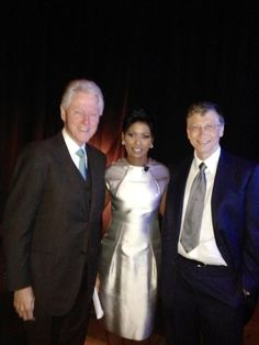 Bill Clinton, Tamron Hall, and Bill Gates.