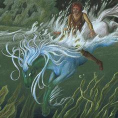 Legendary Creature | Kelpie Mythological Creature Creatures cresting through