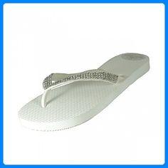 Designer Luxus Flip Flops-Chanclas Exclusivas Simone Herrera-Diamond Line-AIDA-Riemchen Sandale Zehentrenner (41/42) - Zehentrenner für frauen (*Partner-Link)