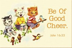 Be of Good Cheer Christian Message Card copy