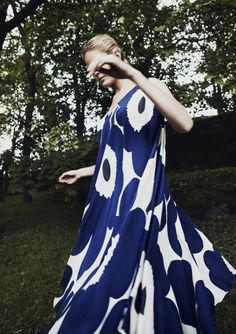 Marimekko Unikko dress - We love Marimekko, Finnish Women, Nordic Style, Blue Moon, Fashion Company, Summer 2015, Decoration, Summer Collection, Spring Fashion