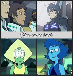 lmao it's the same thing <<< oh. I ship lappidot but not klance but I guess. Baby Crying Face, Steven Universe Theories, Fandom Crossover, Lapidot, Cartoon Crossovers, Voltron Klance, Paladin, Cartoon Network, Lions