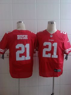 2015 San Francisco 49ers 21  Reggie Bush Red Elite Jerseys b0741e236