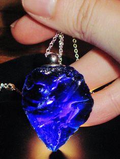 RARE Tanzanite Flame Andara crystal Oracle Pendant - (Violet Flame, Awakening, Ancient Alchemy, Intuition, Transmutation, Celestial Magic)