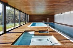 Kubik Extension by GRAS Arquitectos - if I win the lottery, this is what the swimming pool will look like, beautiful!