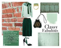 The Harmony of Green by troppo-bella-vintage on Polyvore featuring Chloé, Vanessa Bruno, Pierre Hardy, Balmain and vintage