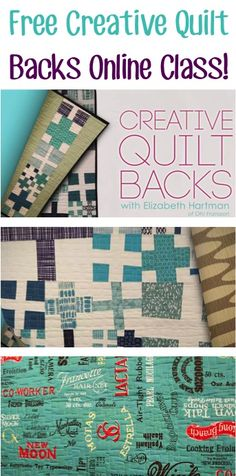 FREE Creative Quilt Backs Online Class! {learn quilting tips and tricks for beautiful quilts!}