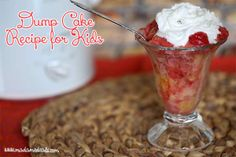 Dump Cake Recipe Kids Can Make Using Slow Cooker