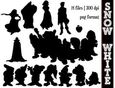 Snow White and the seven dwarfs Silhouettes by SparkYourCreativity, $6.00