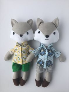kids woodland cloth doll handmade custom animal doll fox