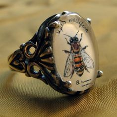 Bee Ring - Natural History Illustrated Jewelry