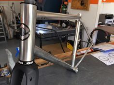 Allroad frame with @columbus_official stainless XCr tubes. @chriskingbuzz headset and new @columbus_official Futura Gravel fork to complete the frame kit.  #allroad #caminadebikes #xcr #columbustubing #stainless #handmade #madeinfrance #chrisking #futura #gravel #gravelbike #bike #allroad #caminadebikes #xcr #columbustubing #stainless #handmade #madeinfrance #chrisking #futura #gravel #gravelbike #bike @columbus_official @chriskingbuzz caminadebikes...  Allroad frame with @columbus_official…