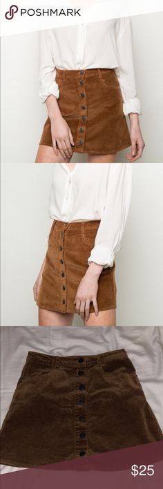 Brandy Melville Nana Corduroy skirt Super cute in new condition. No flaws. Brandy Melville Skirts Mini