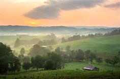 Earlier morning sunrise on the Virginia countryside.    Getty Images - Courtesy of Health.com