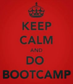 Bootcamp - my new favourite thing to do! Who would have thought?