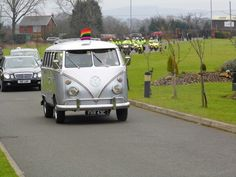 Volkswagen Funerals escorted to the Crematorium by North West Blood Bikers.