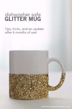 DIY Gifts for Your Girlfriend and Cool Homemade Gift Ideas for Her  | Easy Creative DIY Projects and Tutorials for Christmas, Birthday and Anniversary Gifts for Mom, Sister, Aunt, Teacher or Friends |Dish Washer Safe Glitter Dipped Mug Makes Creative Home Decor for Women's Gift | Cool Crafts and DIY Projects by DIY JOY  http://diyjoy.com/diy-gifts-for-her-girlfriend-mom