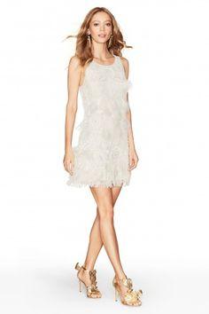 Hanovi Hand Embellished Feather Dress | Calypso St. Barth
