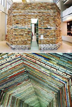 Buildings made from Books