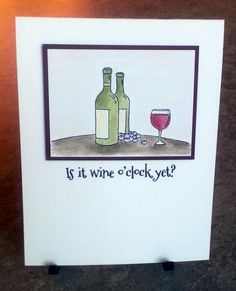 Your Next Stamp - Is it wine o'clock yet? - Life is Grape stamp set