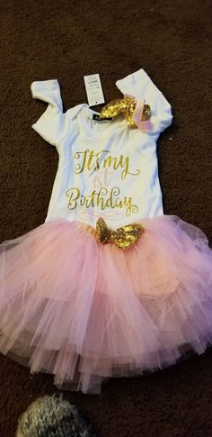 7a20e53ab Baby Girl 1st First Birthday Party Tutu Outfits Sets Long Sleeve Clothes  12M #fashion #