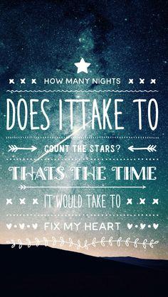 Infinity lyrics one direction